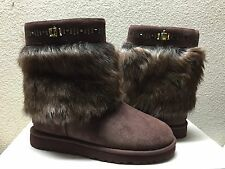 UGG WOMEN VILET PINECONE SHEARLING SHEEPSKIN CUFF MAYLIN US 7 / EU 38 / UK 5.5