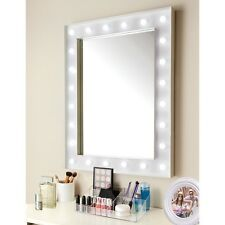 Hollywood 24 Bright White LED Bulb Gloss White Finish Make Up Mirror 80 X 60 BN