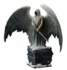 Stunning! Gothic Guardian Angel Statue By La Williams