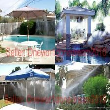 New 10M/33' Outdoor Garden Misting Cooling System 10 Plastic Mist Nozzles Sprink