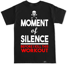 MOMENT OF SILENCE T SHIRT WORKOUT GYM FITNESS BENCH WHEY BEAST SQUAT DEAD LIFT