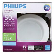 Philips 50W Daylight 4 in. Retrofit Trim Recessed Downlight Dimmable - PACK 4