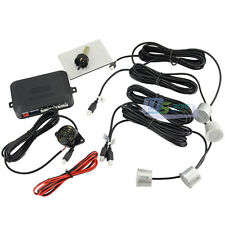 Buzzer Car Parking Sensor Reversing Backup Radar Sound Alert + 4 Sensors Silver