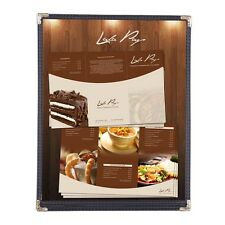 30 Menu Cover 8.5x11 2 View Single 1 Page Black Restaurant Cafe Deli Catering