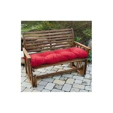 Padded Patio Bench Cushion Red For Outdoor Seating Glider Garden Yard Decor