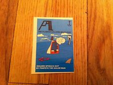 Vintage Trading Card Decal Sticker FAIL The Flunkie Sailors Magazine Unknown old