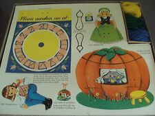 Vintage 1957 ToyMaker Kids Craft Kit Sewing Cards Lace Ups