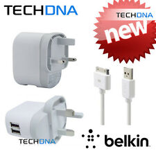 Belkin 2 ports Chargeur Mural Double USB 5V 1A pour Blackberry, HTC, mp3, TomTom, iPod