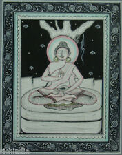 Gautama Buddha Meditation Painting Handmade Buddhism Religion Cloth Color_AR231