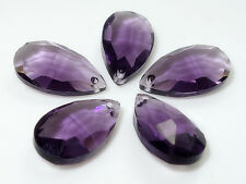 10pcs Faceted Teardrop CRYSTAL glass Pendants 16mm  Variety of colors