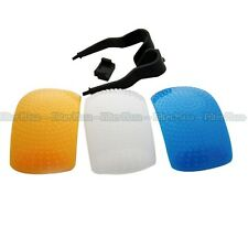 3 Color Pop-Up Flash Diffuser For Canon EOS 750D 600D 760D 700D 60D 1200D 5D III