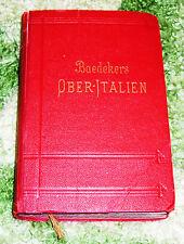 Libro VIAGGIO DI 105 anni, oggetto da collezione! Baedeker-Verlag, molto vecchio carte, tedesco.