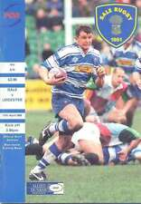 SALE v LEICESTER 11 Apr 1998 RUGBY PROGRAMME