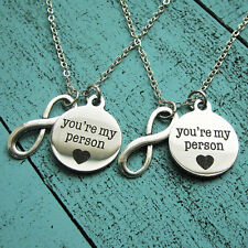 Infinity Hollow Heart You're My Person Best Friend Gift Necklace for Lovers