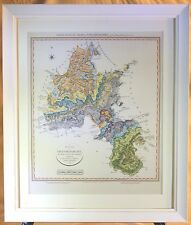 Geological Map of Oxfordshire - Framed Print