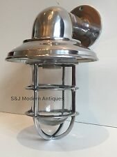 Vintage Industrial Wall Light Bulkhead Marine Aluminium Nautical Ship Lamp Retro