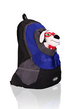 Pet Dog Puppy Cat Blue Stylish Fashion Outdoor & Travel Backpack & Mesh Carrier