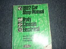 1982 LINCOLN MERCURY GRAND MARQUIS FORD CROWN VICTORIA SHOP MANUAL BODY ELECTRIC