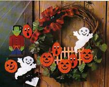 HALLOWEEN HOBGOBLINS GHOST PUMPKINS PLASTIC CANVAS PATTERN INSTRUCTIONS