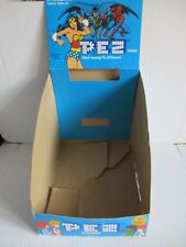 PEZ Display Karton Marvel Super Heroes Batman Spiderman 20x27x17 cm 1984 80er