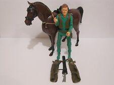Marx Canadian Mod Green Johnny West with Thunderbolt Horse & Accessories