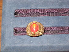 Eagle Scout Ring Size 10, Eagle emblem in red stone, gold plated  c2 #4