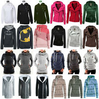 Womens Hoodies Coat Jacket Ladies Sports Tracksuit Sweatshirts Hoody Jumper Tops