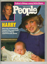 PRINCESS DIANA PRINCE HARRY People Magazine 1/14/85 STING POLICE