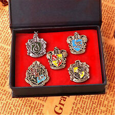 Set of 5 pcs Harry Potter Hogwarts House Metal Pin Badge In Box Xmas Gifts