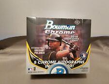 2014 Bowman Chrome Baseball Jumbo Box 5 Autos Per Box POSSIBLE KRIS BRYANT AUTO