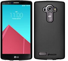 Amzer Quality Exclusive Pudding Matte TPU Skin Case Back Cover For LG G4 - Black