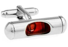 Level Cufflinks Red Liquid Carpenter Wedding Fancy Gift Box Free Ship USA