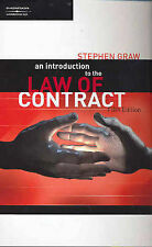 An Introduction to the Law of Contract by Stephen Graw (Paperback, 2004)