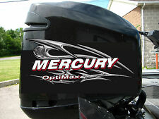 Mercury Optimax V6 135-250 hp Chrome Style Decal Kit
