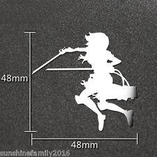 1pc Anime Attack on Titan Mikasa Silver Metal Decal Phone Car Laptop Sticker