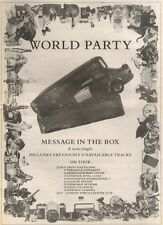 2/6/90Pgn23 Advert: World Party message In The Box The New Single 15x11