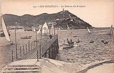 Spain postcard San Sebastian La Bahia en dia de regatas