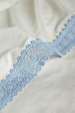 Nwt Anthropologie Delancey Set of 2  Pillowcases New Shams Blue Lace Trim
