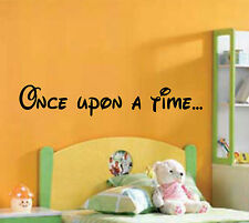 Once Upon A Time Child's Bedroom Wall Art Sticker Vinyl Quote Nursery Playroom