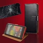 Wallet Handy Tasche für Wiko + Panzer Glas Folie Flip Case Etui Schutz Hülle