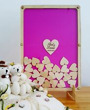 Wedding, Baby Shower, Engagement, Personalised Wooden drop box Guest Book Frame