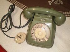 Telefono a Rotella Siemens SIP funzionante verde militare colore raro