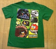 Angry Birds Star Wars Green Short Sleeve Crew Neck Tee For Kids size 14/16 NWOT