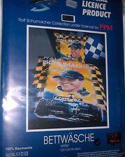 Ralf Schumacher Formel1- Bettwäsche 135/200+80/80 cm-NEU,OVP,RARITÄT,Lizenzware