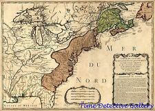 Map of the French and Indian War - 1756 - Antique Map Print