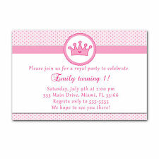 30 Princess Invitation Cards Pink Polka Dots Invites Girl Birthday Party