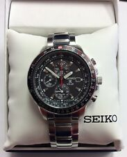SEIKO Men's PROSPEX Stainless Steel Aviator Solar Chronograph WATCH SSC007