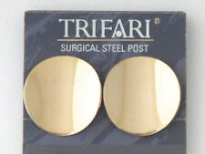 Vintage 80's Trifari Gold Tone Clip On Earrings Made in USA