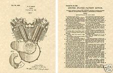 Harley Davidson V TWIN ENGINE US Patent Art Print READY TO FRAME!HD Motor VTWIN