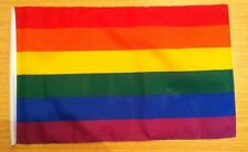 3 x 2 FT POLYESTER RAINBOW GAY PRIDE LGBT MOVEMENT FLAG SLEEVED DOUBLE STITCH